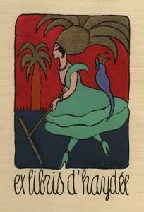 Ex-libris de madame Haydée Magnus-Level par Lucien Laforge