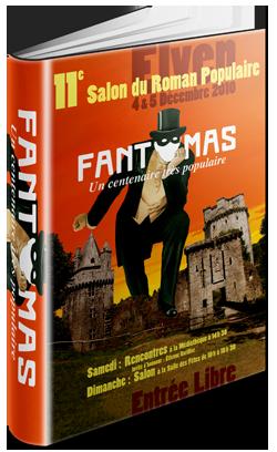 """Affiche du salon du livre populaire : """"Fantomas"""""""