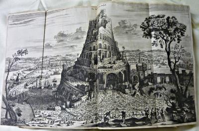 Gravure Babel pour l'édition de l'ouvrage sur l'Asie de Dapper en 1680