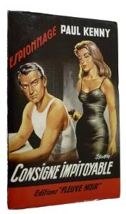 Consigne impitoyable par Paul Kenny, couverture de Gourdon pour les éditions Fleuve Noir