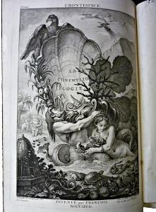 frontispice de la Conchyliologie édition de 1780 Chez de Bure