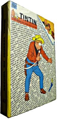 Reliure Tintin dos jaune numéro 62