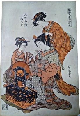 Impression japonaise début XX° d'estampe plus ancienne