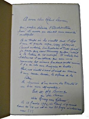 Envoi dans un exemplaire de Service Secret : à l'écoute devant Verdun