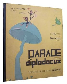 Couverture de la parade des Diplodocus par Samivel, 1933