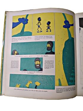 Page de la parade des Diplodocus avec des cases proches de la bande-dessinée