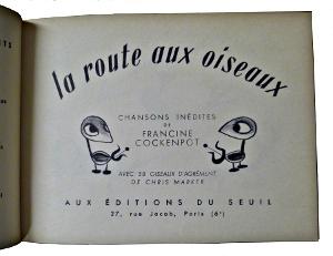 Page de titre de la route aux oiseaux