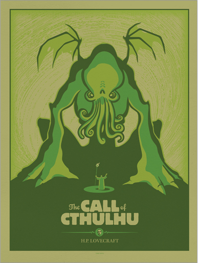 The call of Cthulhu imprimé par Delicious Design League.