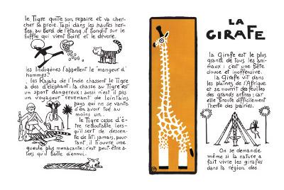 la girafe dans les drôles de bêtes d'André Héllé.