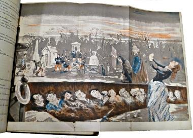 Planche dépliante pour la dégringolade de Gaboriau édition illustrée.