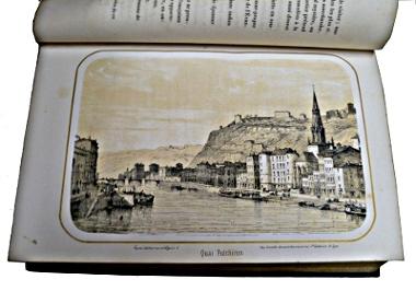 """Quai fulchiron dans """"Les Mystères de Lyon"""" par Linossier et Cajani 1852"""