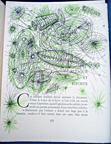 """Illustration de Carzou pour des passages de """"de la Terre à la Lune"""" de Jules Verne"""