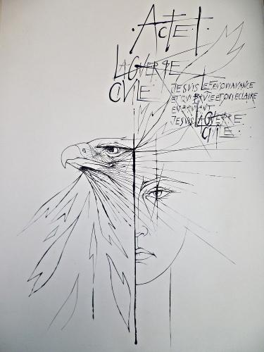 La guerre civile Acte I Montherlant illustré par Trémois