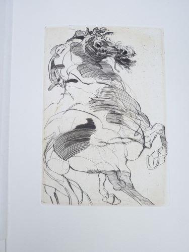 Le cheval de Dostoievski, eaux forte par weisbuch.