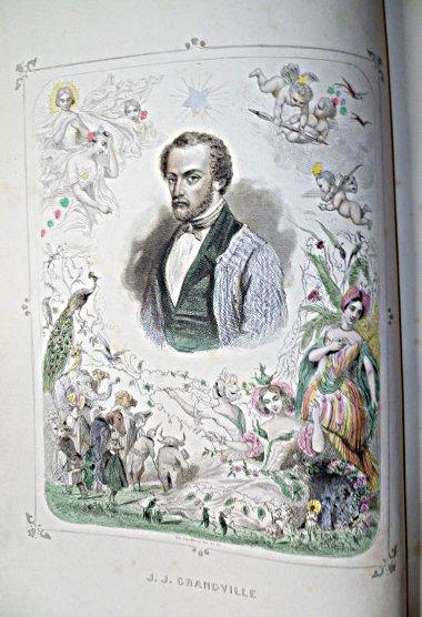 Portrait de Grandville en frontispice des Etoiles, dernières fééries