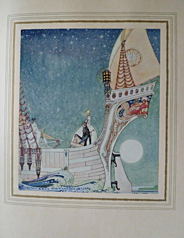 """Illustrations en couleurs de Kay Nielsen, pour """"Sous le signe du Rossignol"""" de Henry Jacques 1 des 1500 exemplaires tirage unique sur japon."""