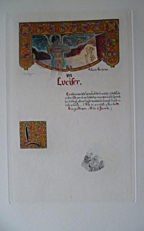 """Suite tête de chapitre et lettrine avec remarque du """"Puits de Sainte-Claire"""" illustré par Rochegrosse"""