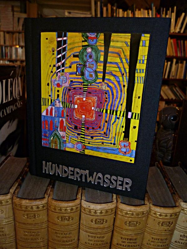 catalogue de l'exposition hunderwasser marseille en vente à la libraririe Abraxas-Libris 19,50 euros