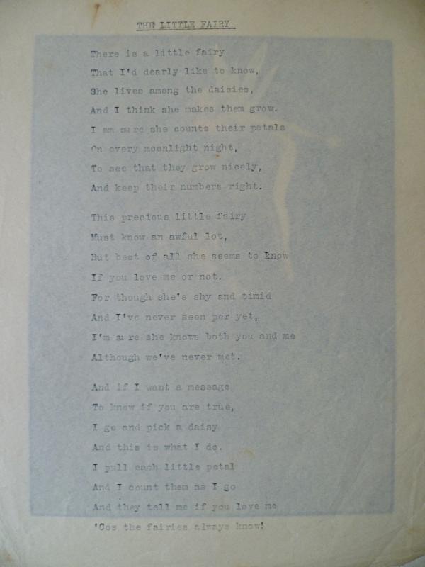 The little fairy poème sur serpente avec l'aquarelle en dessous