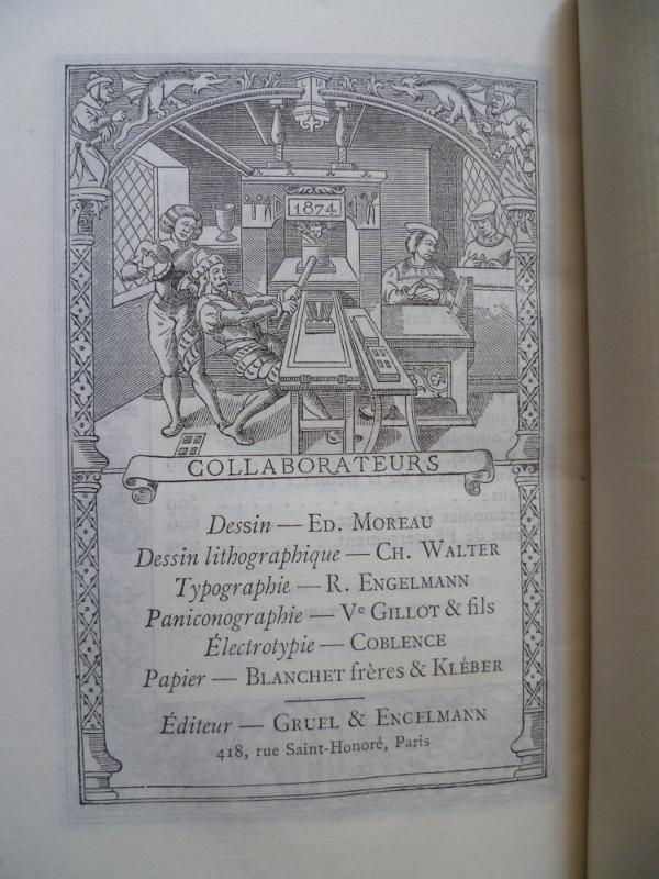 Liste des collaborateurs pour le paroissien de la renaissance édité par gruel en 1883