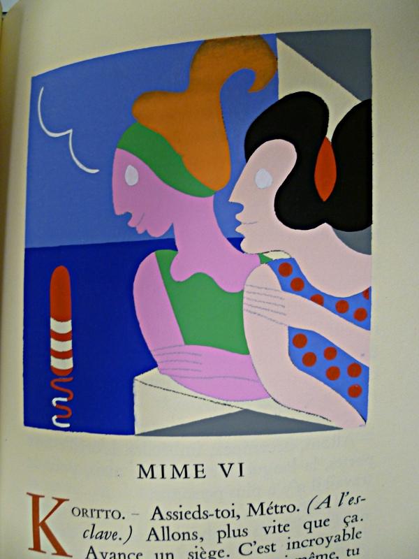 Tête de chapitre pour les Mimes d'Herondas illustré par Carlo RIM