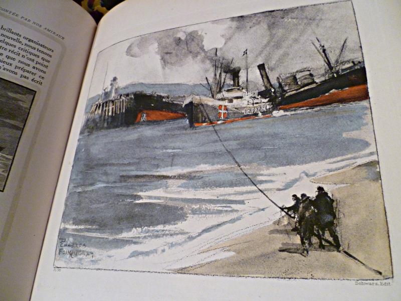 Illustration de Charles Fouqueray pour la Guerre Navale racontée par les amiraux