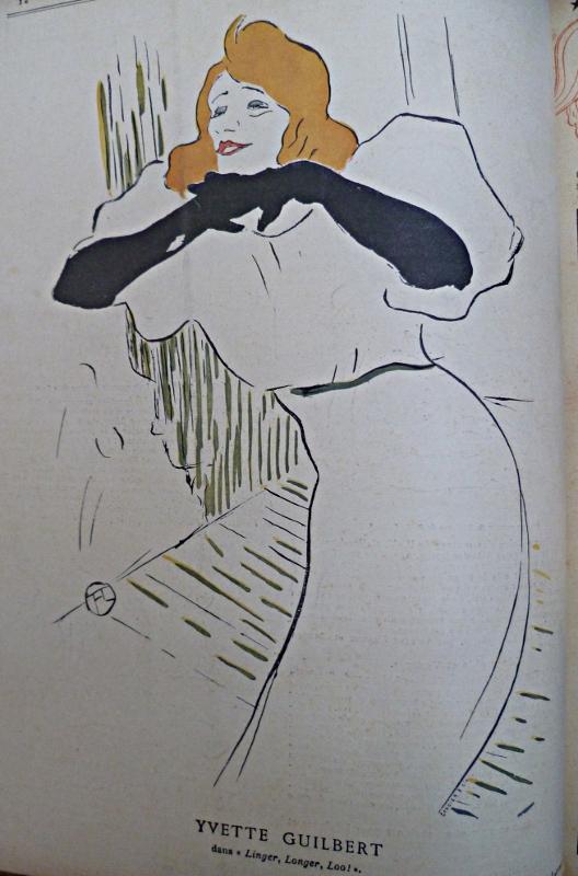 Ilustration de Toulouse Lautrec pour la revue Le Rire en 1894