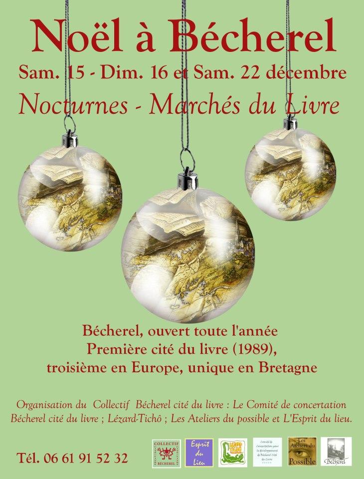 Affiche de Noêl à Bécherel le 15 - 16 et 22 décembre 2012