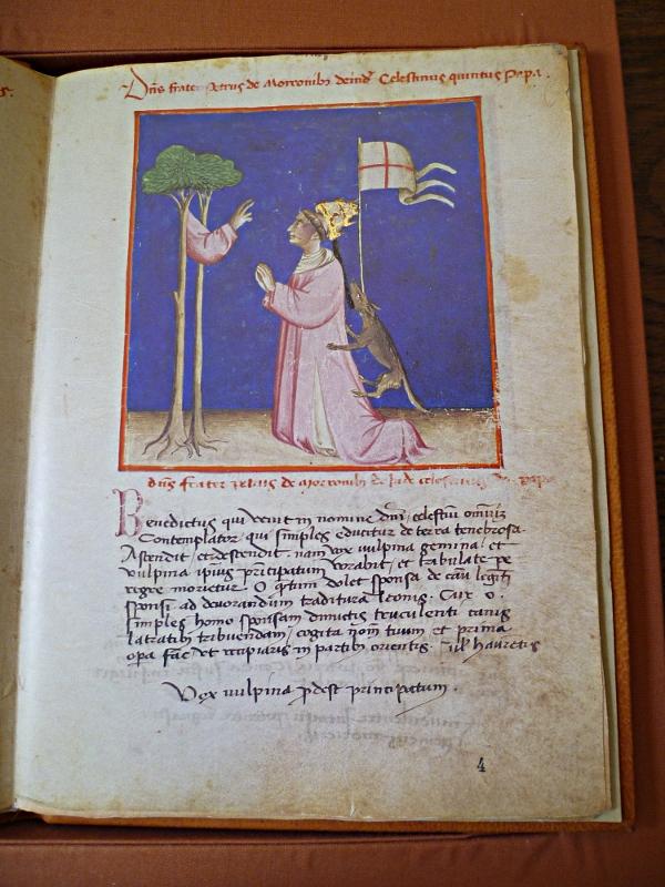 enluminure pour le manuscrit Vat. Ross. 374