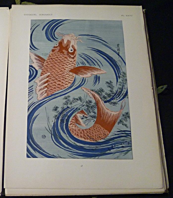 Planche du recueil Toyokuni Hirohsigé imprimé en 1914 par Des les Ateliers photo-mécaniques D.-A. Longuet