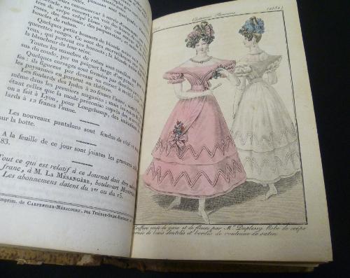 Gravure de mode dans le Journal des Dames et des Modes 1828