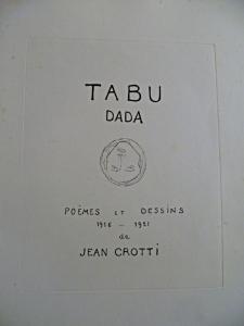 Tabu Dada Jean Crotti page de titre
