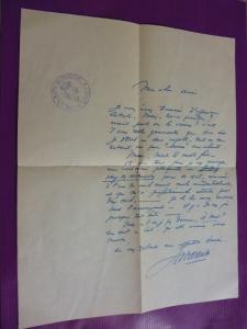 Lettre de Jean De La Varende à Jacques Demolin