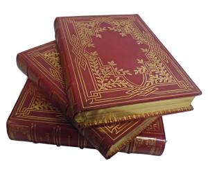 """Reliure plein maroquin rouge du levant par Segouin pour """"les évangiles des fêtes et des dimanches"""" livre édité par Curmer !"""