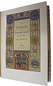 Page de titre de Les évangiles des dimanches et fêtes de l'année imprimé par Curmer en 1864