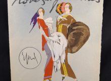 Frontispice reproduisant la couverture de la chemise du recueil robes et femmes par Enrico Sacchetti