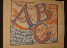 Un abécédaire du mouvement expressionniste allemand par Conrad Felixmüller. 1925