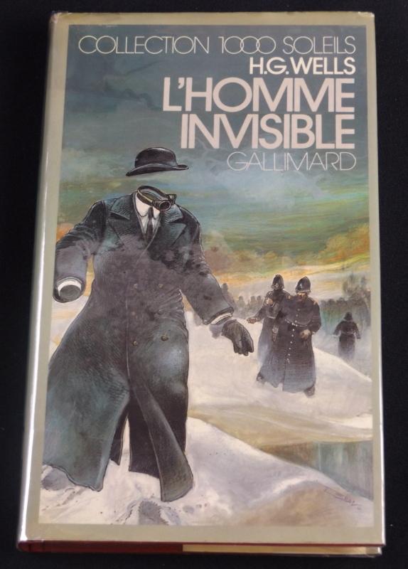 L'homme invisible, H.G. Wells, Gallimard, Collection 1000 Soleils, jaquette d'Enki Bilal