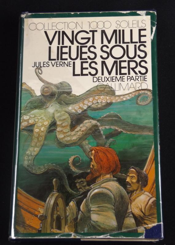 Vingt mille lieues sous les mers, Jules Verne, Gallimard, Collection 1000 Soleils, jaquette d'Enki Bilal