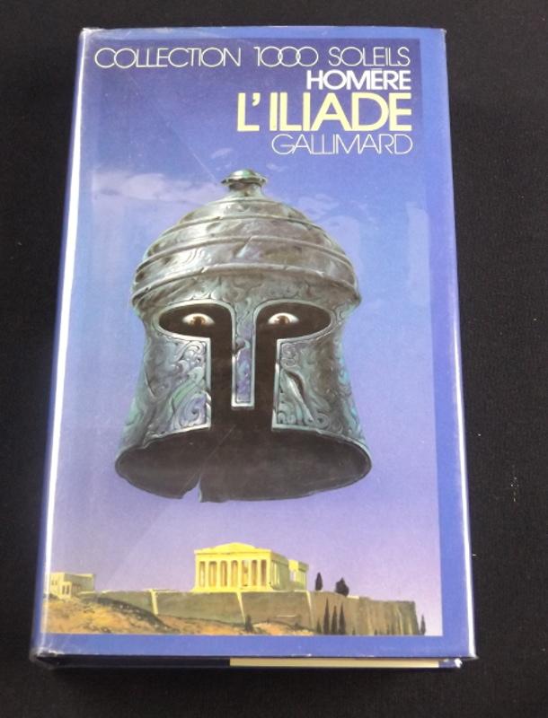 L'Iliade, Homère, Gallimard, collection 1000 Soleils, jaquette de Christian Broutin