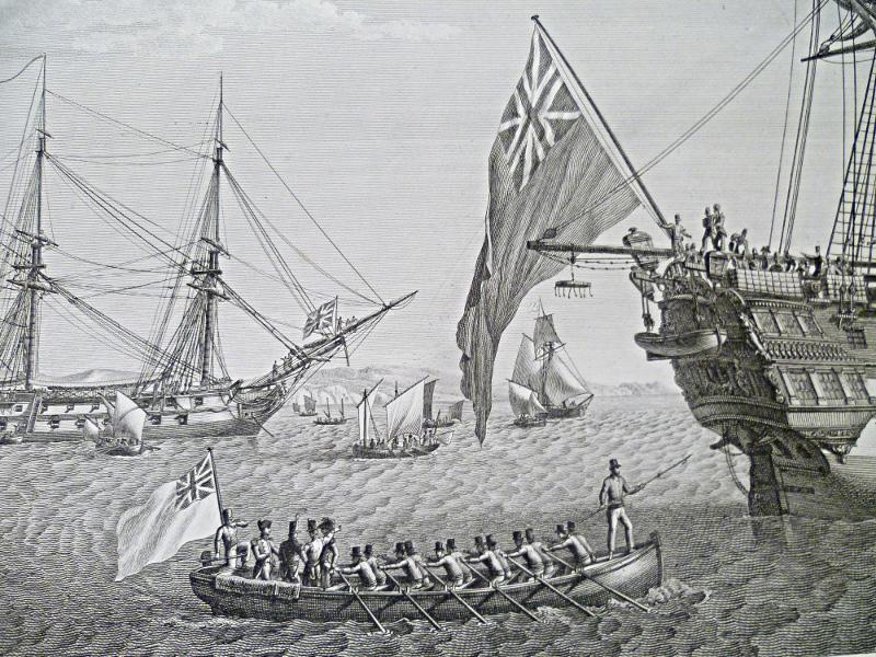transfèrement de napoléon, à bord du Northumberland détail