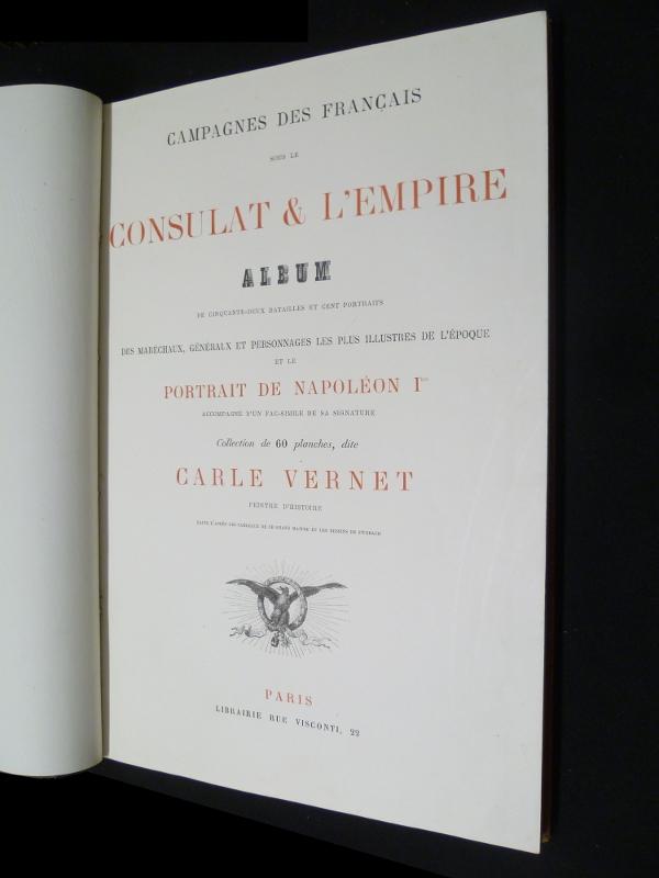 Page de titre des Campagnes des Français sous le Consulat et l'Empire
