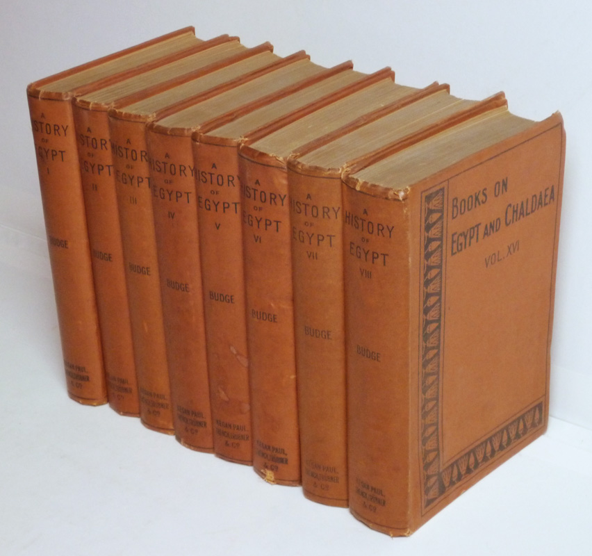 A History of Egypt from the End of the Neolithic period to the Death of Cleopatra VII B.C. 30 (8 volumes)