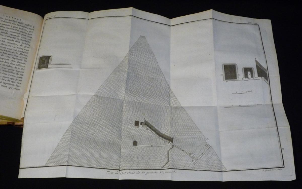 Lettres sur l'Egypte, où l'on offre le parallèle des moeurs anciennes et modernes de ses habitans, où l'on décrit l'état, le commerce, l'agriculture, le gouvernement du pays, et la descente de S. Louis à Damiette... (3 volumes)