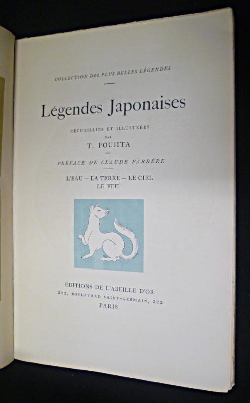 Illustration de Foujita pour légendes japonaises aux éditions de l'Abeille d'Or en 1923